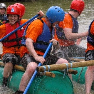 Rafting is always a popular activity with groups as long as they are given prior warning and come prepared. We have a variety of scenarios to test out the skills of the group